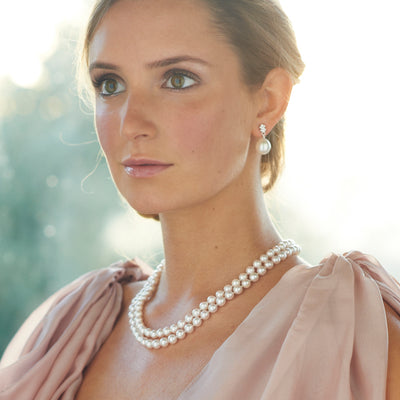 White Freshwater Pearl Double Strand 'Classic' Pearl Necklace