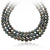 Silver-Black Tahitian Pearl Necklace