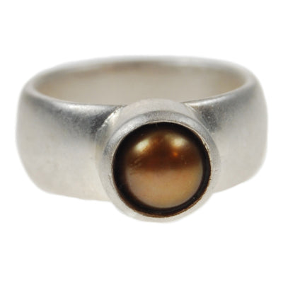 Freshwater Pearl Ring in Copper