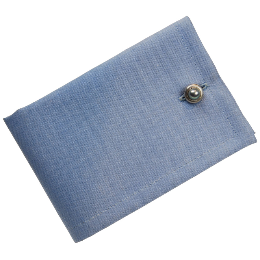 Single Pearl Cufflinks in Grey