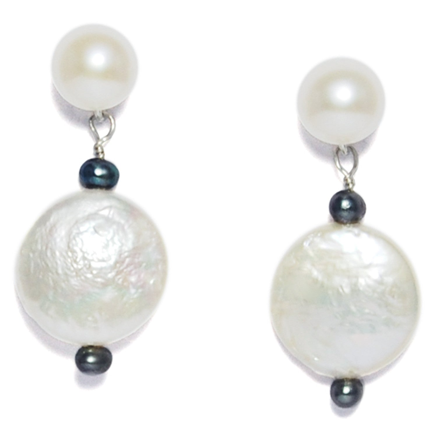 M&M Pearl Drop Earrings in White