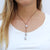 Grey Tahitian Pearl & Tan Leather Drop 'Warrior' Necklace