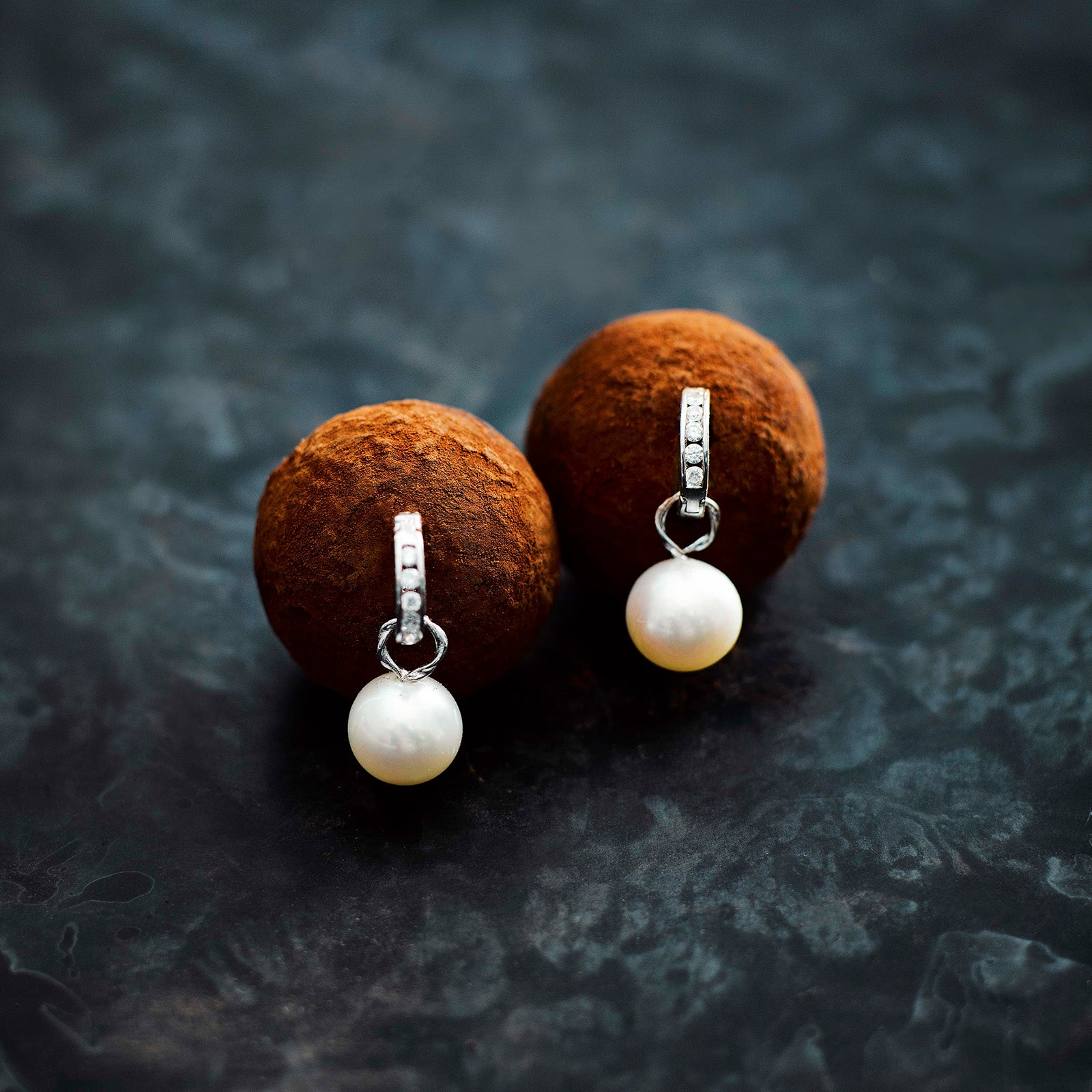 Bespoke pearl earrings for christmas