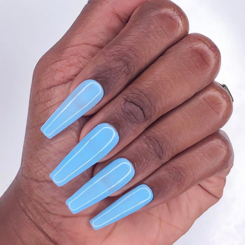 After The Reign blue nail polish