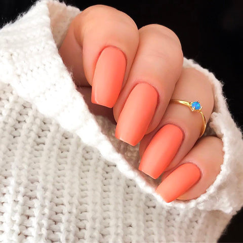 Son Of A Peach pastel nail color