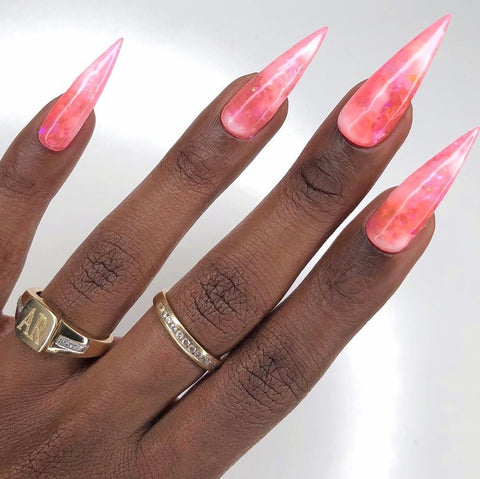 bae berry marble nails
