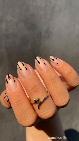 bloody halloween nails
