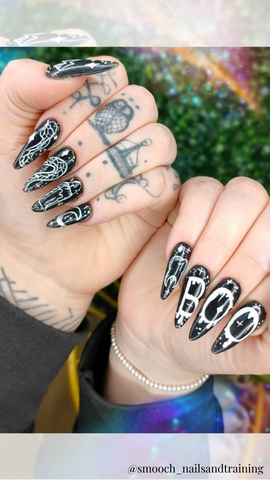 halloween nail design with Boo