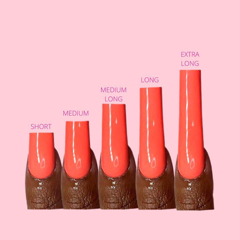 common lengths of nail shapes