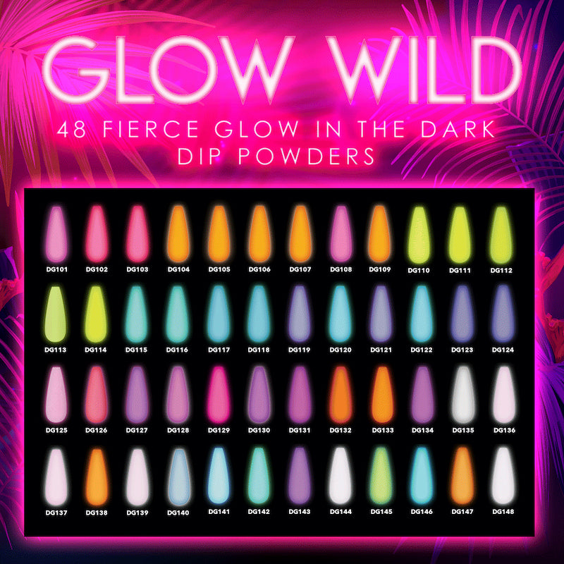 Glow Wild Dip Collection Glowing Swatches