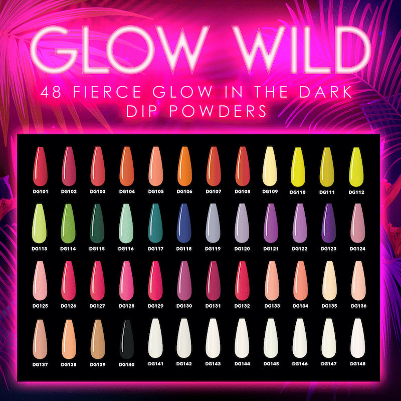 Glow Wild Dip Collection Swatches
