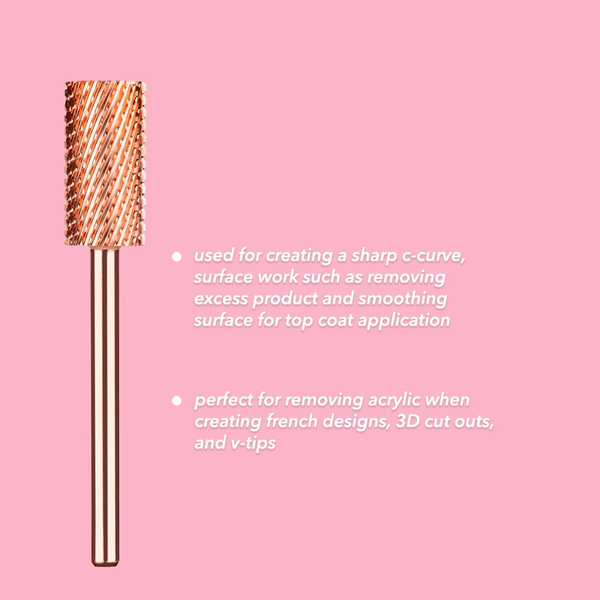 Large Barrel Coarse Bit (Rose Gold)
