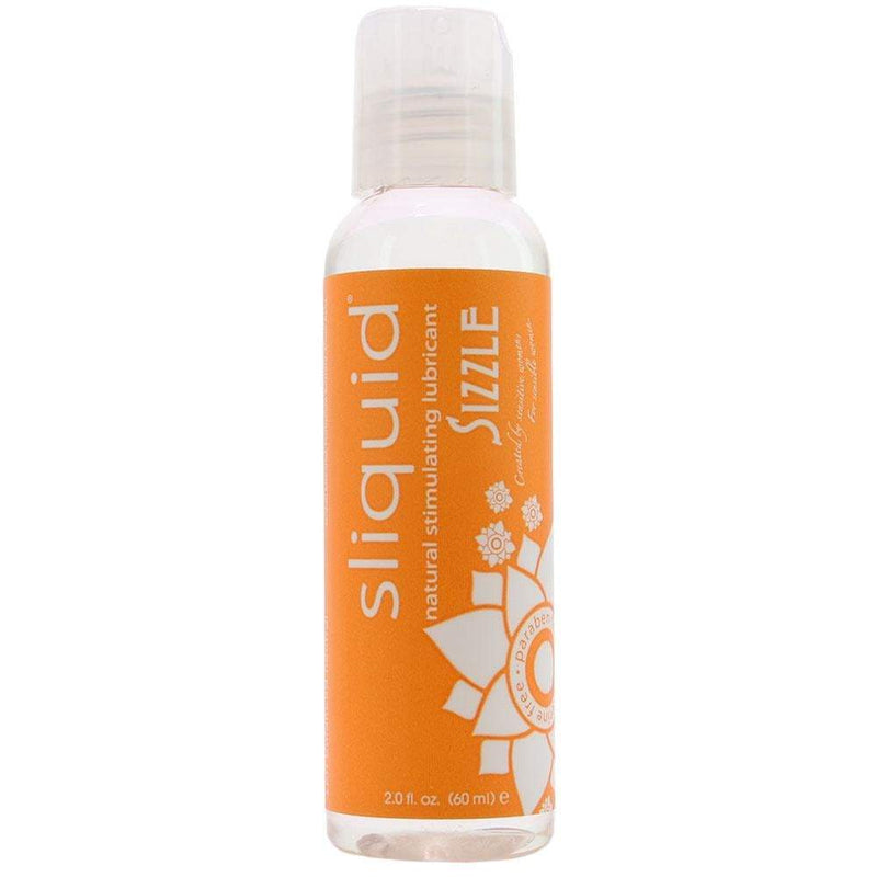 Sliquid Naturals Sizzle Water Based Lubricant - 2 Oz