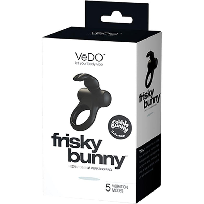 Frisky Bunny Rechargeable Vibrating Cock Ring