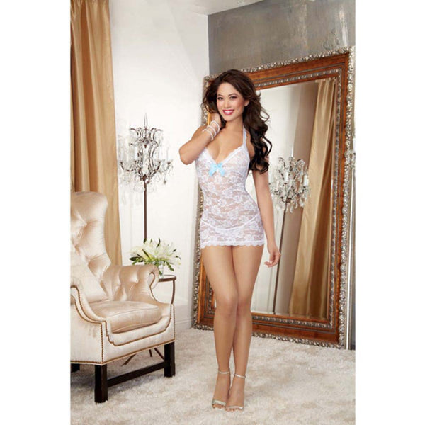 Lace T-Back Pearl Chemise