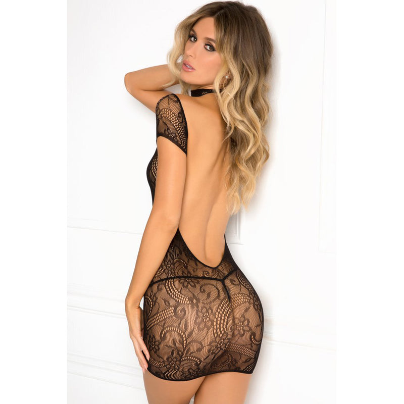 Cold Shoulder Lace Body Bodystocking
