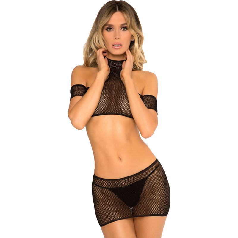 Cold Shoulder Bodystocking Set