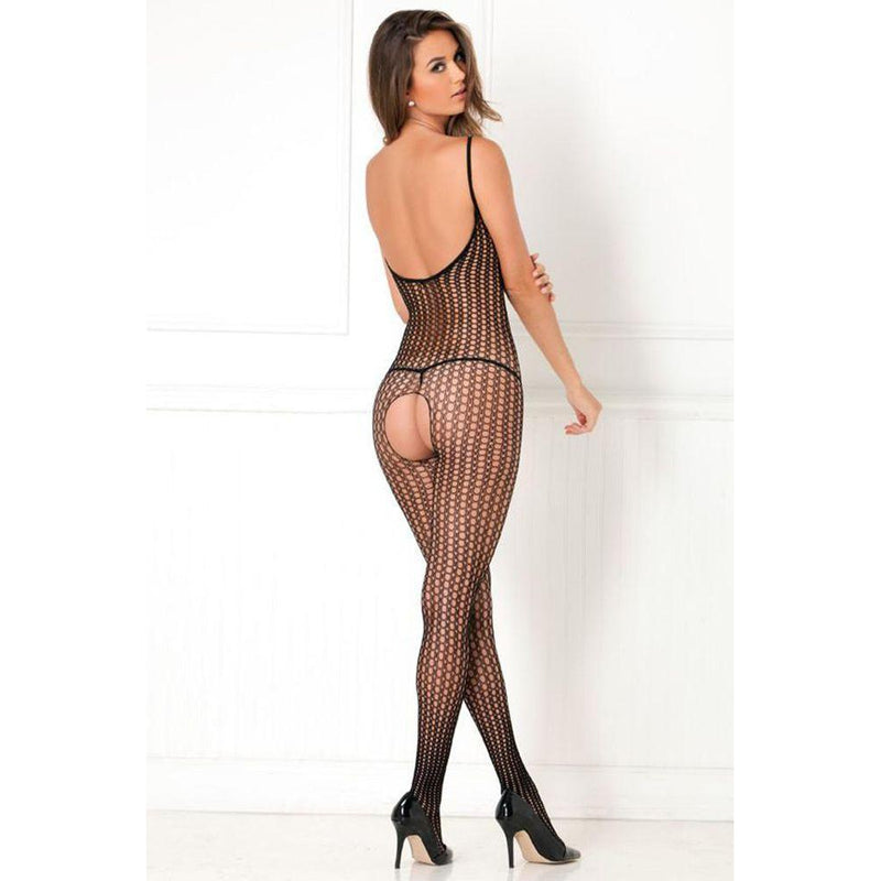 Quarter Crochet Net Bodystocking