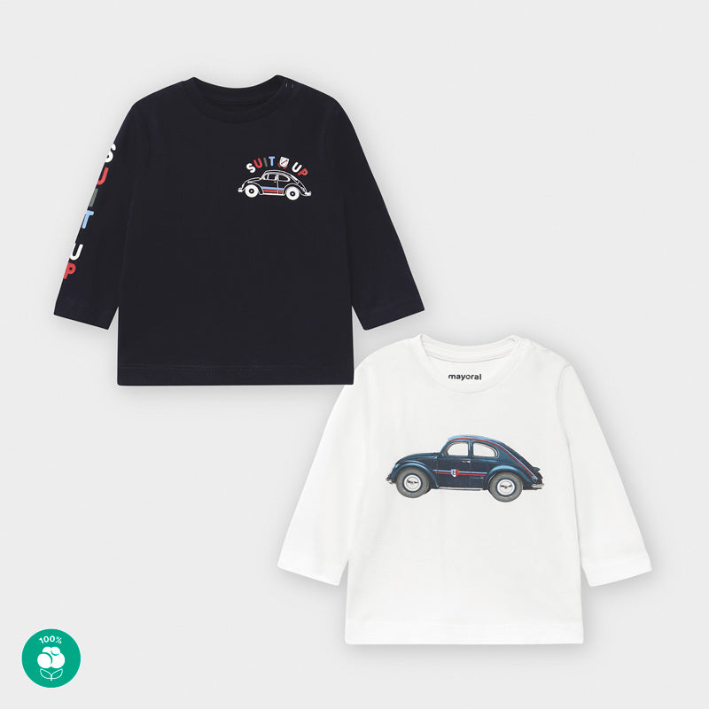 Long-Sleeved Car Tee Set