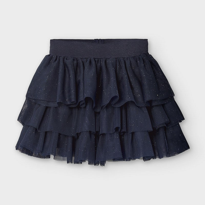 Navy Sparkled Tulle Skirt