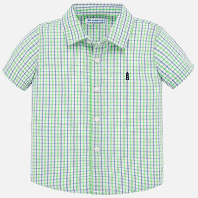 Checked Short Sleeve Botton Down