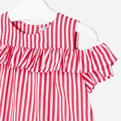 Stripe Top with Frills