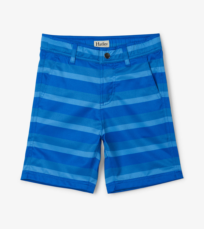 Blue Stripped Quick Dry Shorts