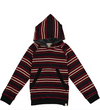 Multi Striped Hooded Top