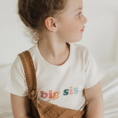 """Big sis"" Organic Graphic Tee"