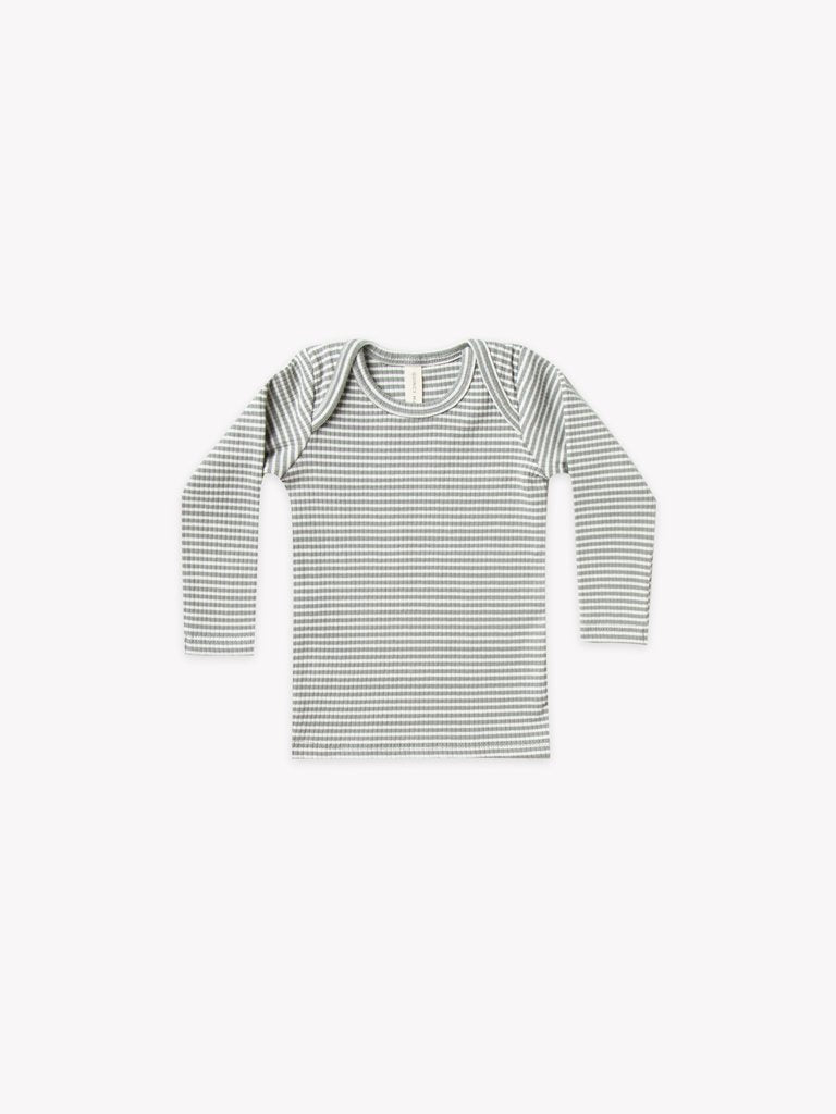 Ribbed Long-Sleeved Lap Tee