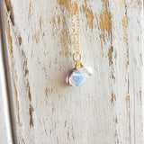 Fluorite, Opalite, Clear Quartz Gold Filled Necklace