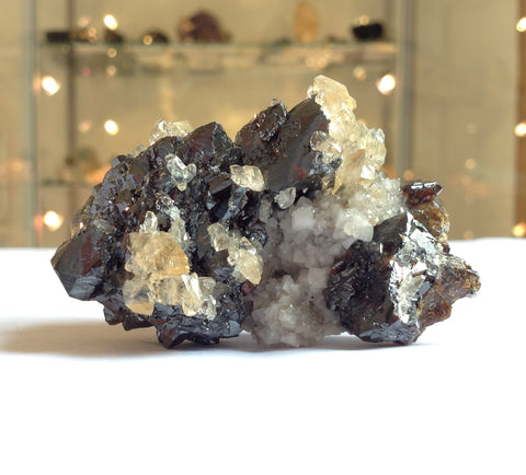 Sphalerite Specimen with Calcite from the Elmwood Mine, Tennessee at Venusrox London
