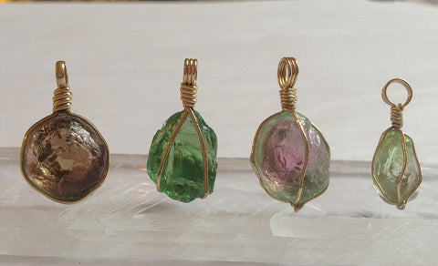 Venusrox Natural Tourmaline Nodule Pendants