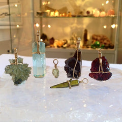 Venusrox London Crystal and Gem Pendatns