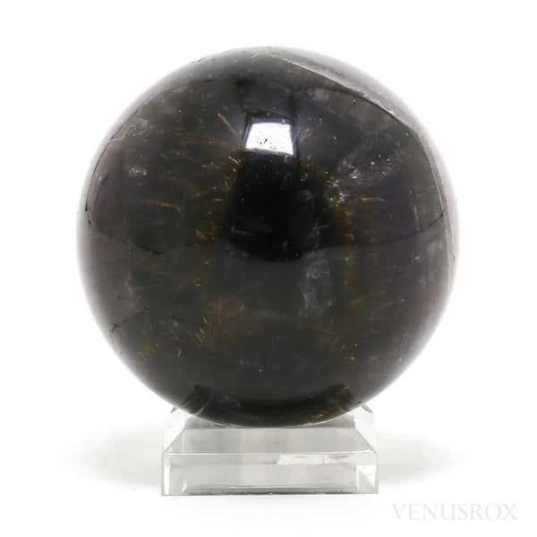 Chevron Amethyst with Cacoxenite Polished Sphere from Brazil | Venusrox