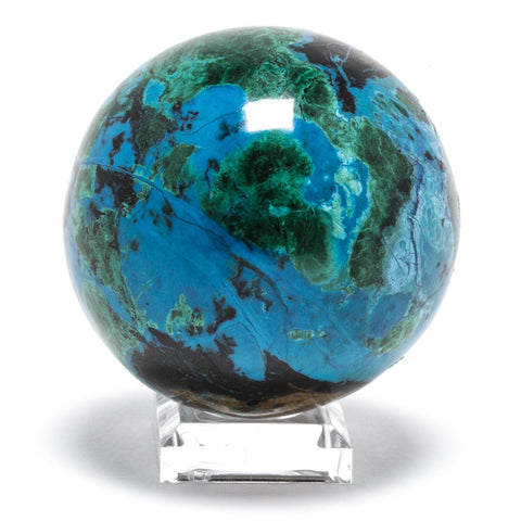 Chrysocolla with Malachite Polished Sphere - Venusrox - 1