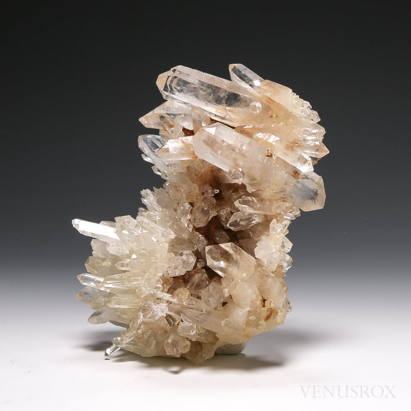 Clear Quartz with Iron Natural Cluster from Brazil | Venusrox