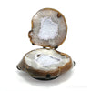 Agate with Quartz Polished Nodule from Brazil mounted on a bespoke stand | Venusrox