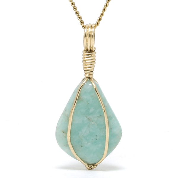 Amazonite Polished Crystal Pendant from Russia | Venusrox