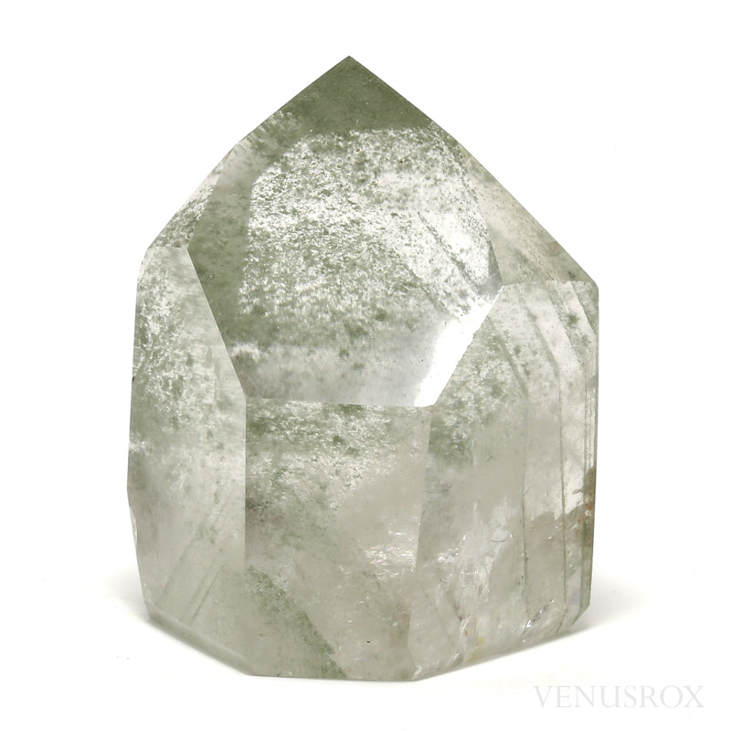 Chlorite Phantom Quartz Polished Point from Brazil | Venusrox
