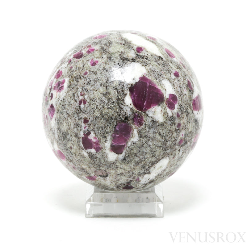 Ruby in Rhyolite Polished Sphere from India | Venusrox