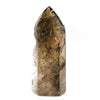 Rutilated Smoky Phantom Quartz Part-Polished/Part-Natural Point from Brazil | Venusrox