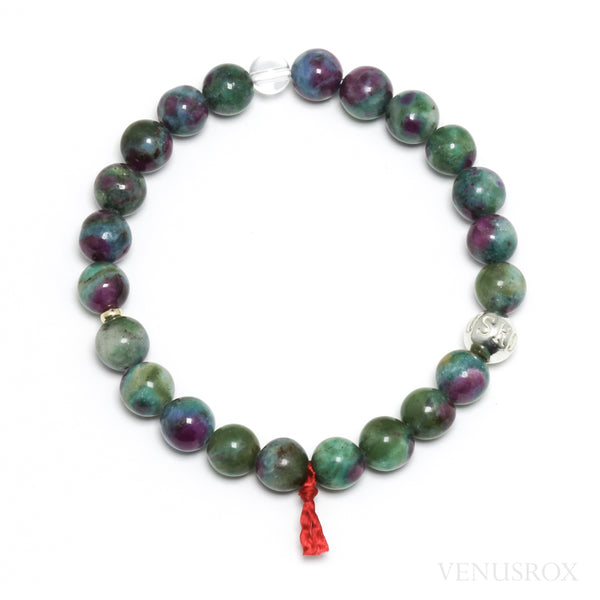 Ruby with Fuchsite & Kyanite Bracelet from India | Venusrox