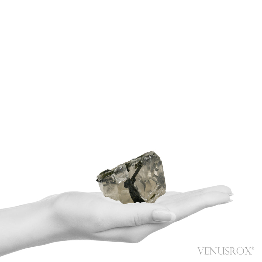 Quartz with Green Tourmaline Natural Cathedral Crystal from Brazil | Venusrox
