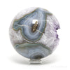 Amethyst with Agate Geode Sphere from Brazil | Venusrox