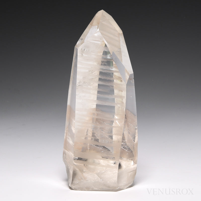 Pink Lemurian Quartz Part Polished/Part Natural Point from Brazil | Venusrox