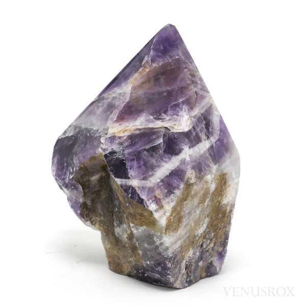 Chevron Amethyst Part Polished/Part Natural Point from Brazil | Venusrox