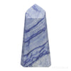 Blue Quartz (Dumortierite) Polished Point from Brazil | Venusrox