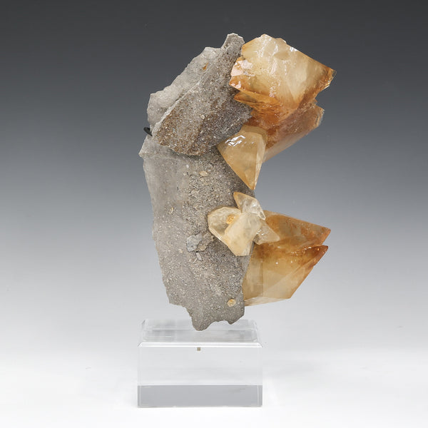 Stellar Beam Calcite on Matrix Natural Cluster from the Elmwood Mine, Tennessee, USA, mounted on a bespoke stand | Venusrox