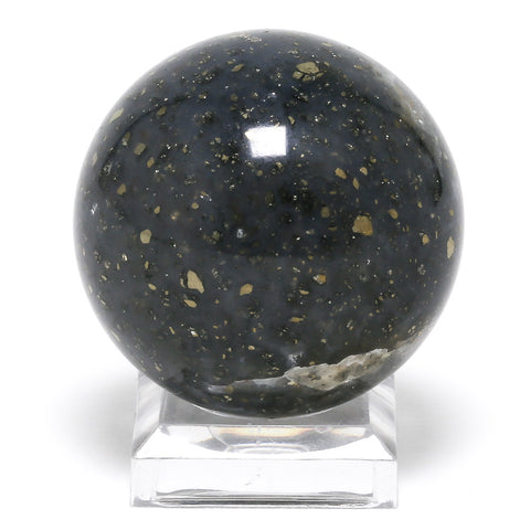 Marcasite in Agate Sphere